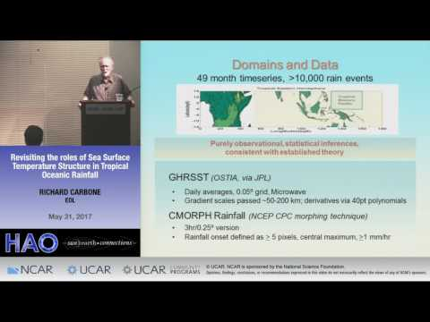Richard Carbone   EOL   Revisiting the Roles of Sea Surface Temperature Structure