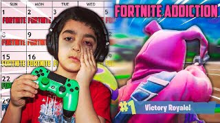 5 YEAR OLD LITTLE BROTHER ADDICTED TO FORTNITE | MY STRANGE ADDICTION (I BLAME NINJA FOR THIS!)