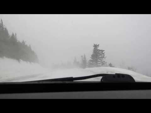 Driving from Britannia to Petley in a blizzard