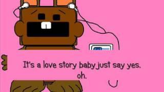 Taylor Swift- Love Story (Chipmunk Version) with lyrics