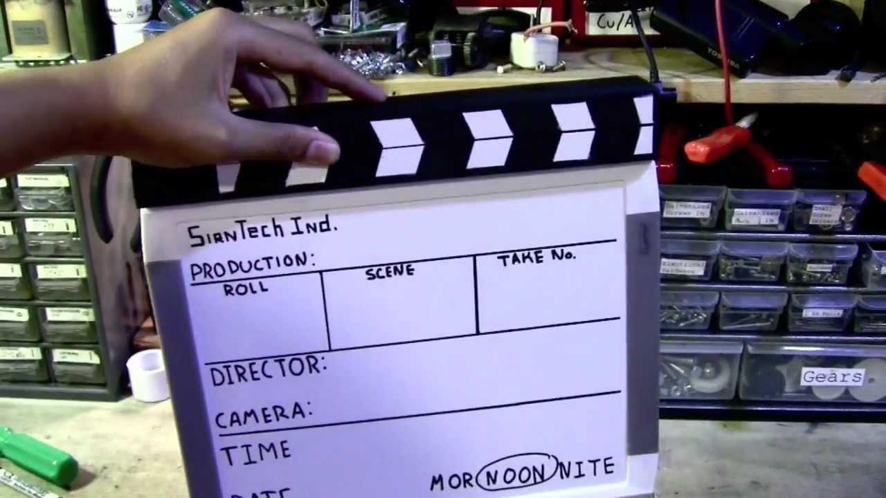 homemade clapper boardfilm slate movie making tools youtube