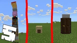 5 ДОМОВ В ОДИН БЛОК в Minecraft PE 1.2