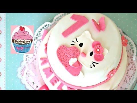 DIY Fondanttorte I Motivtorte I Hello Kitty I 1