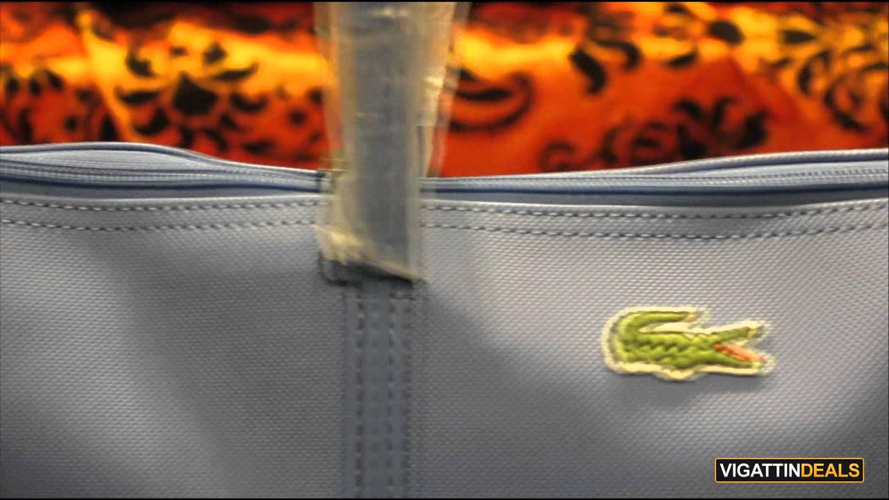 98c98f65a46 Lacoste L.12.12 Concept Large Horizontal Tote Bag - YouTube