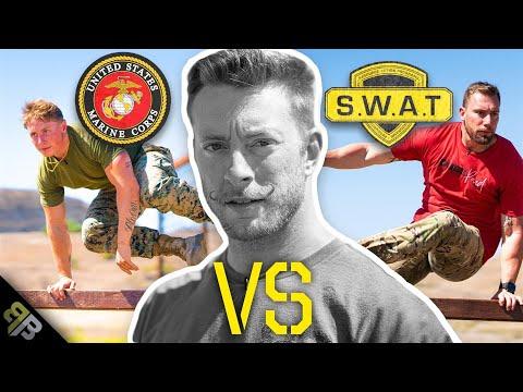 SWAT Operator vs US Marine Fitness BATTLE