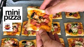 Az Malzemeli, Çok Lezzetli Mini Pizza Tarifi / Kolay, İkramlık Pizza Tarifi #EvLezzetleri