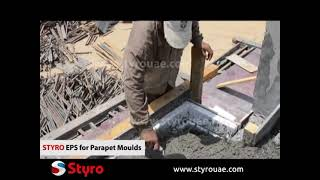 Styro Parapet Moulds for Concrete Shaping