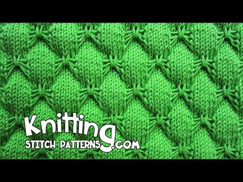 Knitting Instructions Adding Stitches : Butterfly stitch - KNITTING - YouTube