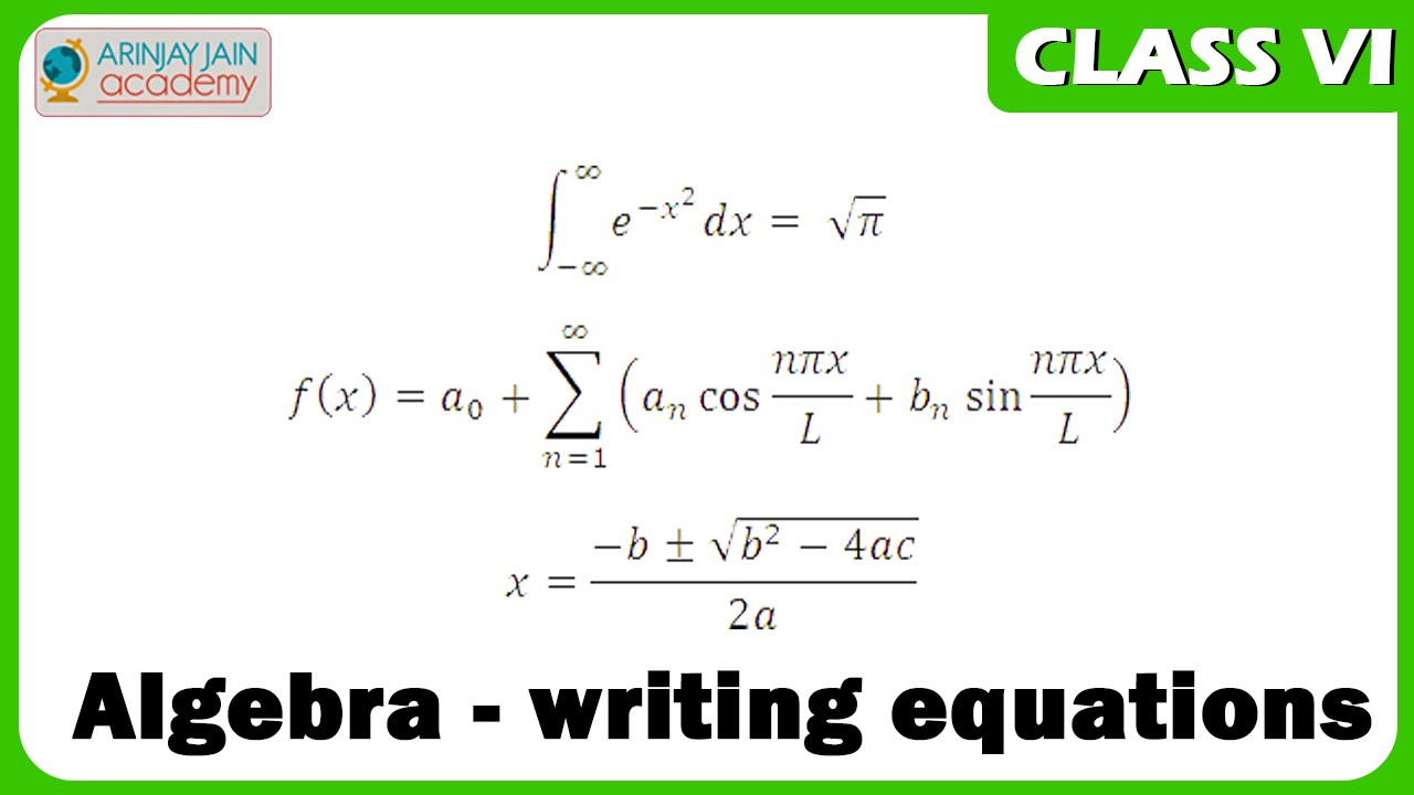 Algebra - writing equations - Maths Class VI - CBSE/ ISCE/ NCERT