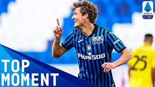 Dutch centre-forward sam lammers showed his new atalanta fans what he was made of, as scored a stunning solo goal to help side cruise 5-2 victory...