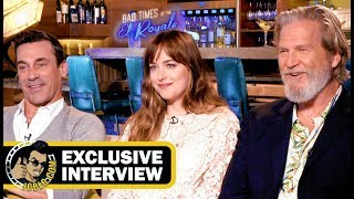 Jeff Bridges, Dakota Johnson & Jon Hamm BAD TIMES AT THE EL ROYALE Interview!
