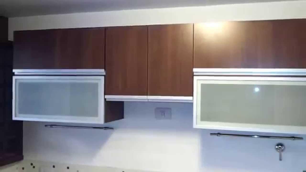Alacenas vidriadas mueble de cocina nogal habano - Alacenas de cocinas ...