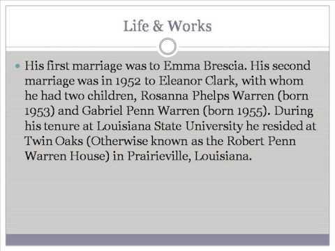 Robert Penn Warren Life & Works