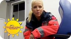 Auf Rettungskurs mit Charlotte Karlinder | SAT.1 Frühstücksfernsehen