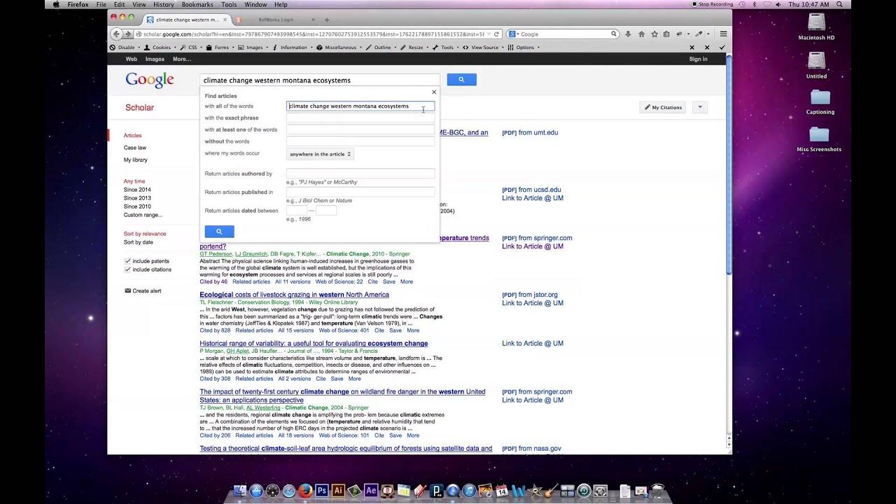 Searching Google Scholar, Google, And Google Books