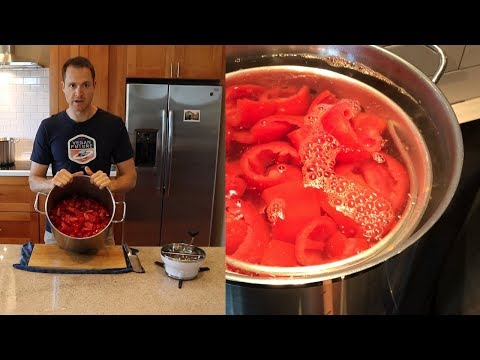 HOW TO PRESERVE TOMATOES - sauce and diced and canned