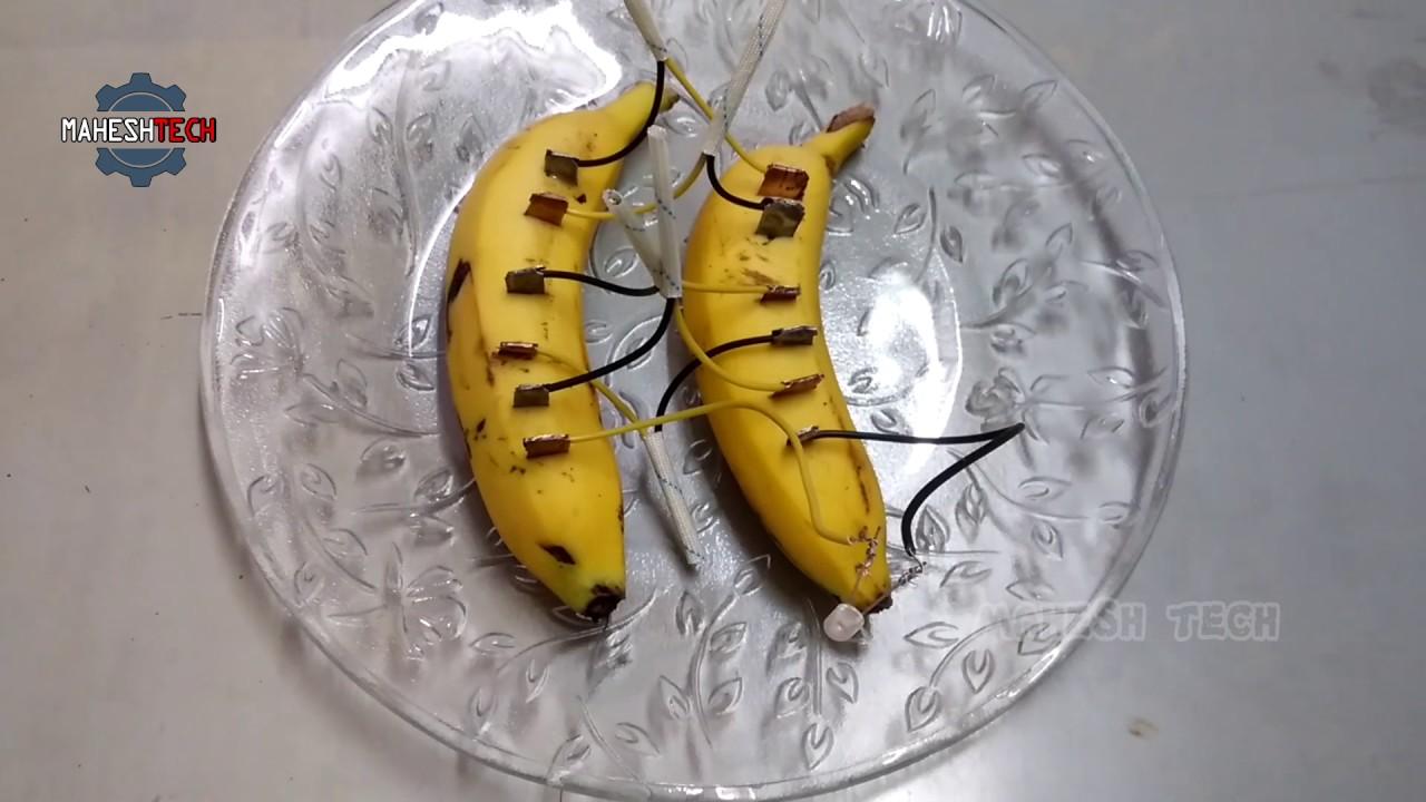 How To Make Banana Fruit Battery - YouTube