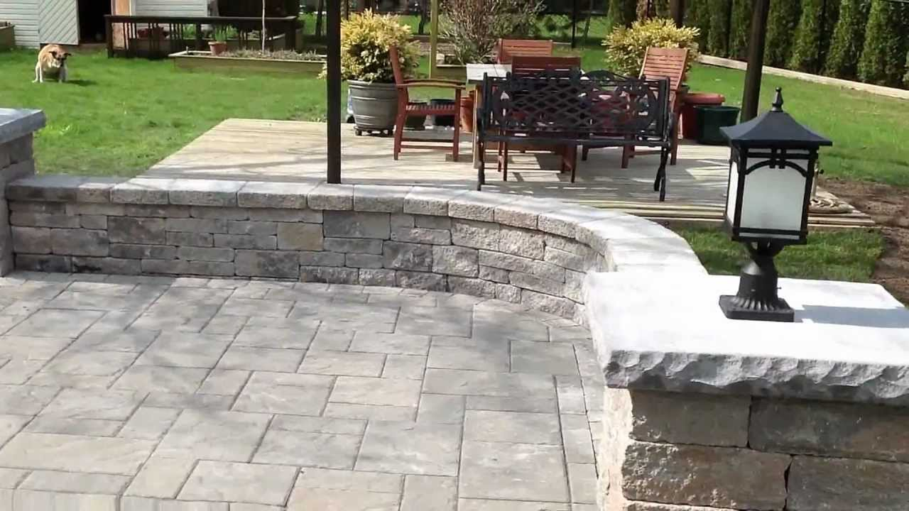 Patio Wall Design patio brick wall design Jonathan Robert Landscape Design Backyard Patio With Pillars Lights And Stairs Youtube