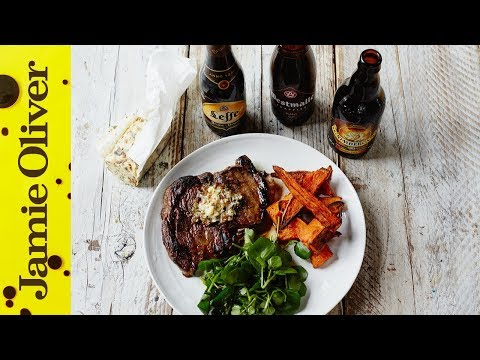 Get Ribeye Steak and Beer Matching | John Quilter Images