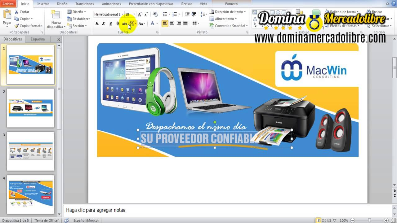 Plantillas Mercadolibre Power Point - YouTube