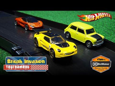 British Race Car Tournament (R1 H3-4) Hot Wheels Diecast Racing 2019