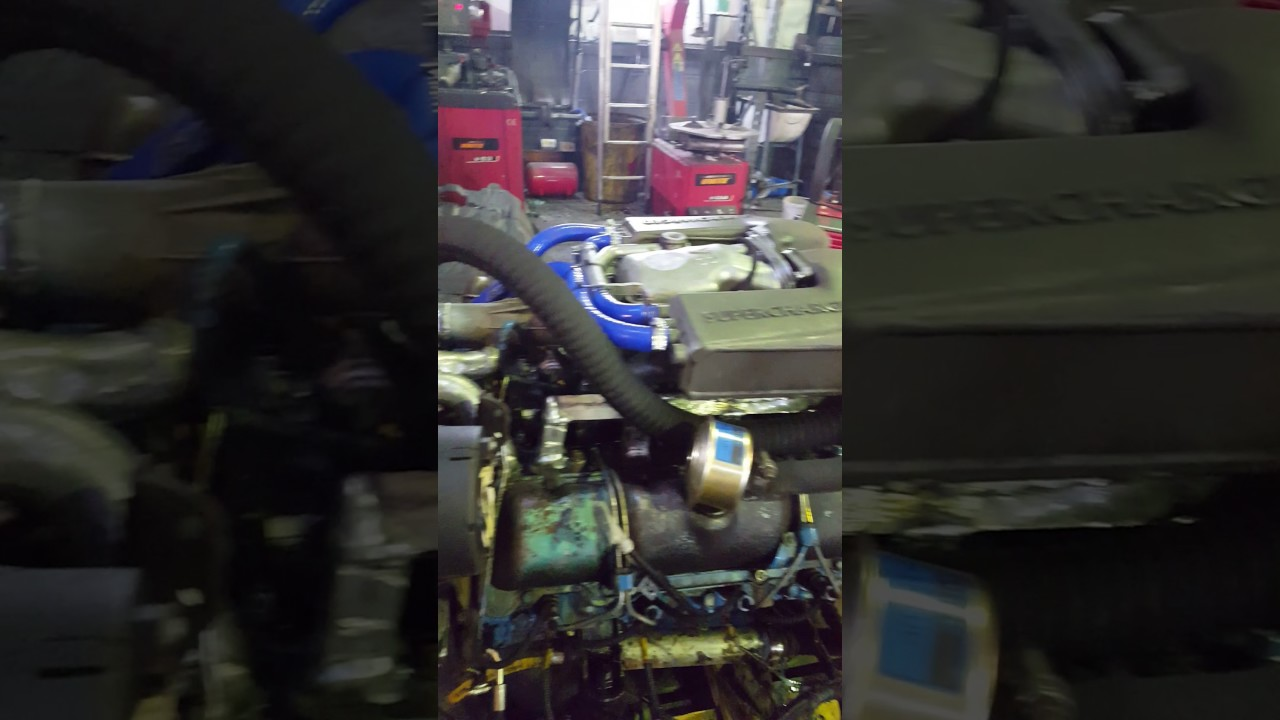 6 5 Diesel Blower : Gm marine diesel with eaton supercharger youtube