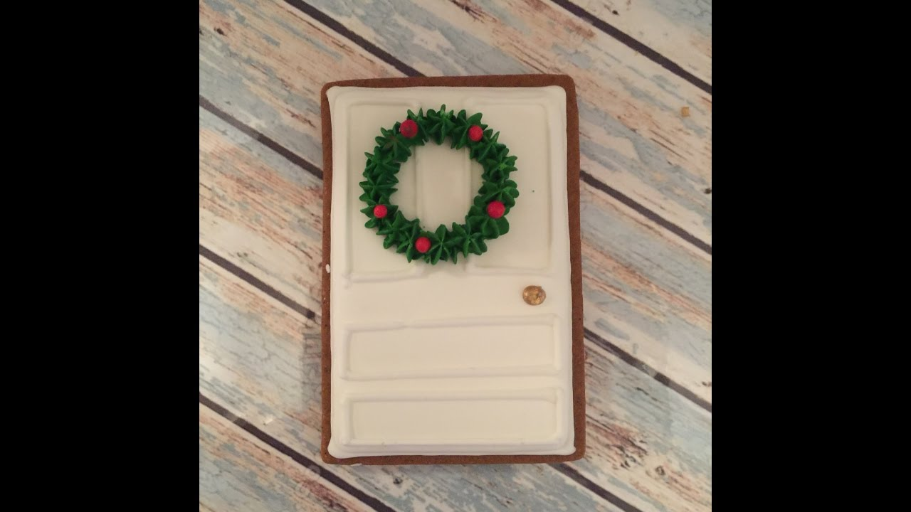 Christmas Wreath Door Sugar Cookie Tutorial & Christmas Wreath Door Sugar Cookie Tutorial