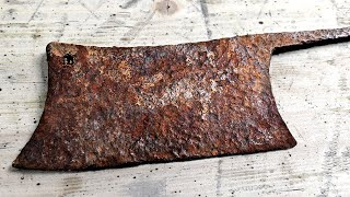 Rusted butcher's knife - Impossible Restoration