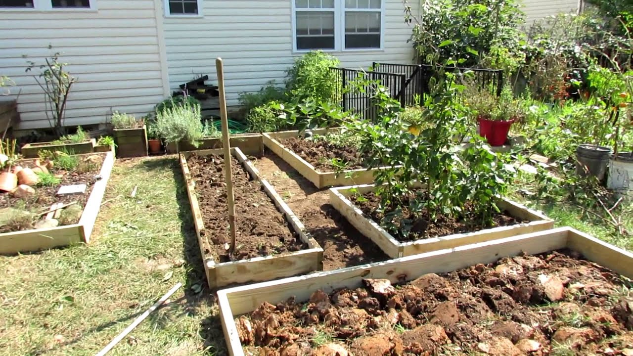designing a raised bed vegetable garden a fall makeover youtube