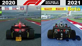 F1 Mobile Racing 2020 vṡ F1 Mobile Racing 2021: Beta