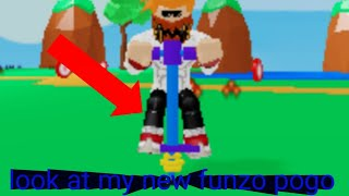 Roblox Pogo simulator: look at my new Pogo stick