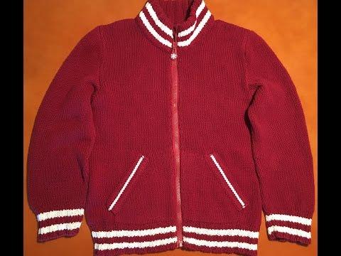 Бордовая куртка. Часть четвертая. Втачивание рукавов, обработка горловины и вшивание замка.