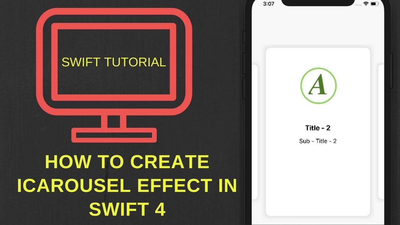 How to create iCarousel effect in Swift 4