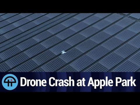 Drone Crashes on Apple Park Solar Roof