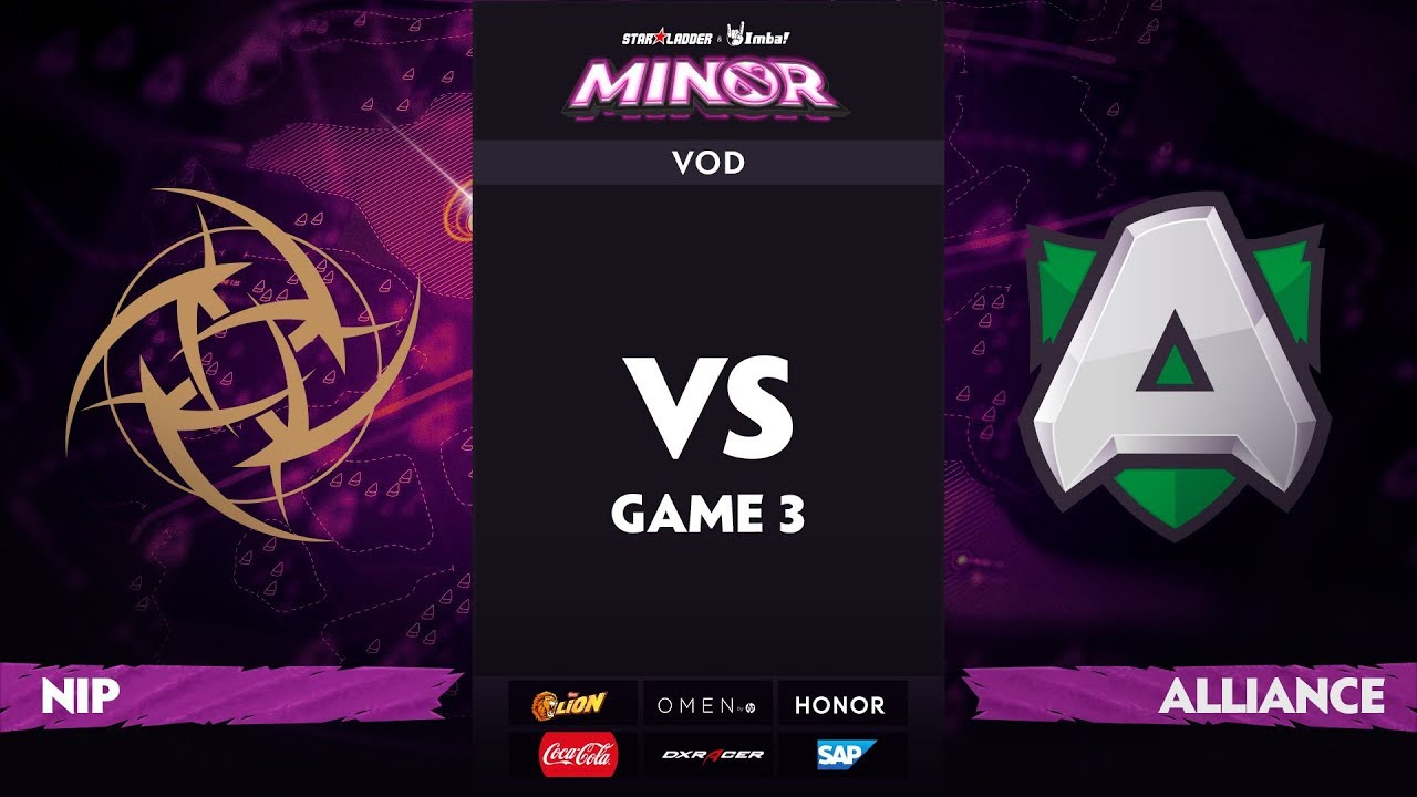 [RU] Ninjas in Pyjamas vs Alliance, Game 3, StarLadder ImbaTV Dota 2 Minor S2 Grand Final