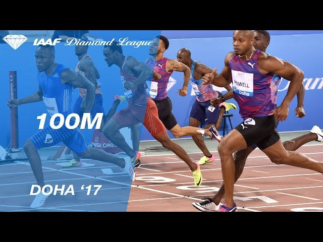 Akani Simbine takes the Men's 100m - IAAF Diamond League Doha 2017