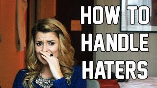 HOW TO HANDLE HATERS // Grace Helbig Thumbnail