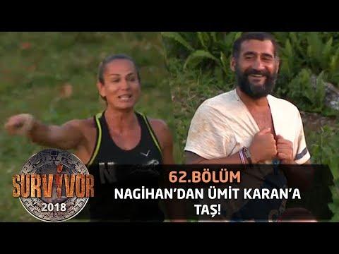 Nagihan'dan Ümit Karan'a taş! Kahkaha dolu anlar...| 62. Bölüm | Survivor 2018