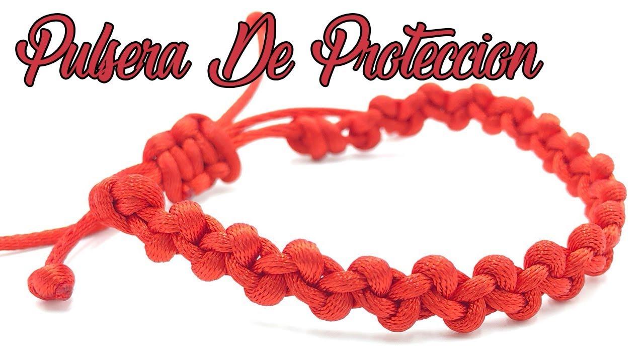 3c57ad6269c3 Pulsera Roja De Protección Nudo Simple Macramé - YouTube