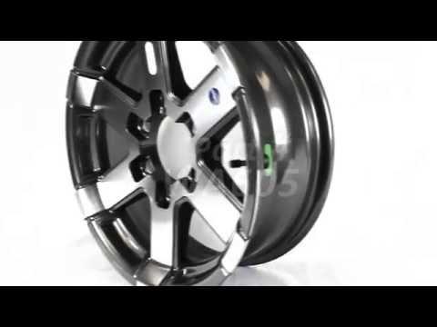 "Series 07 HiSpec HWT 15/"" Aluminum Trailer Wheel 5-4.5 Black Inlay bbb"