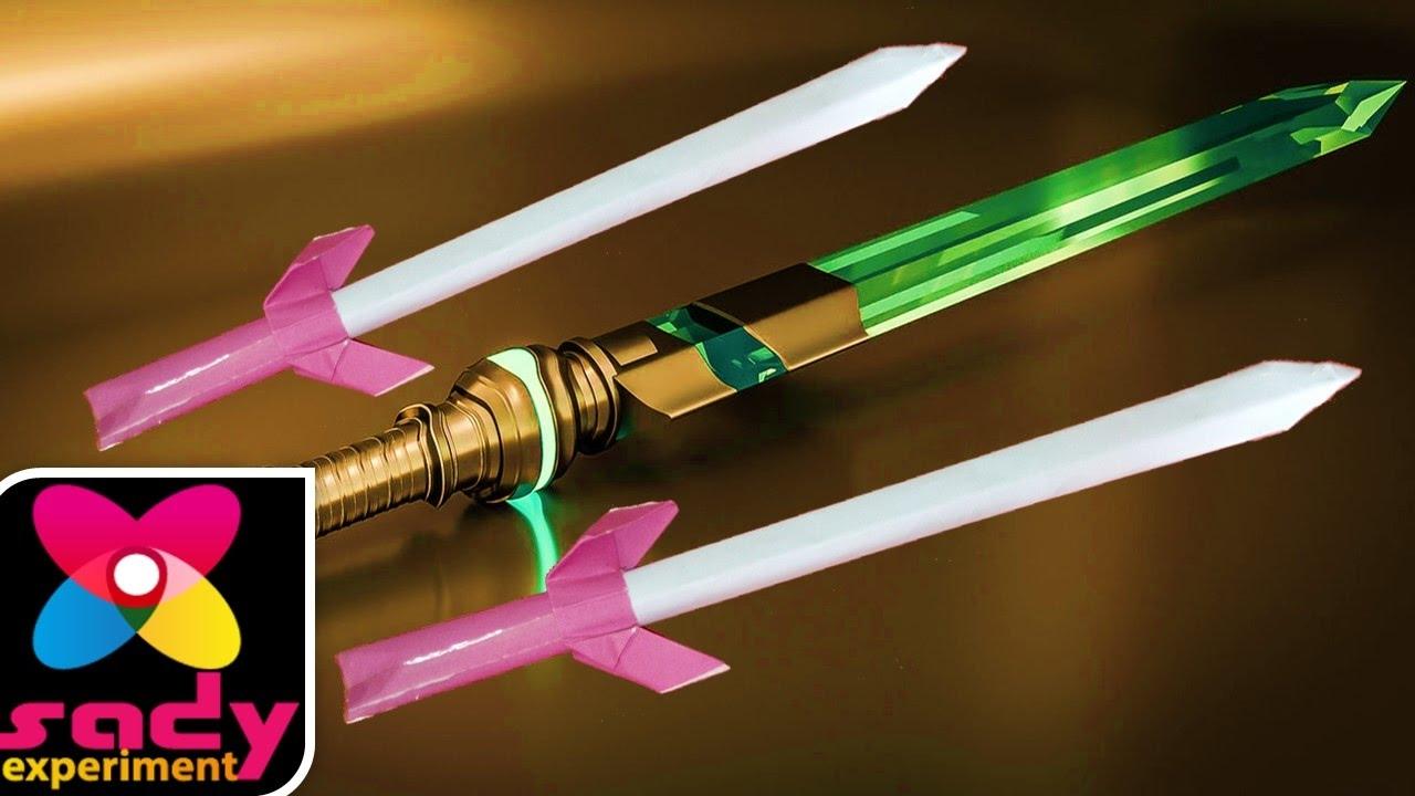 How to Make Origami Paper Sword, brand, scimitar, sword ...