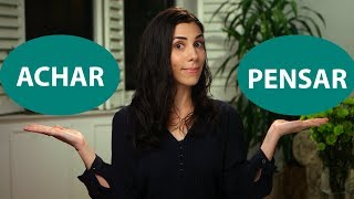 """Baixar Learn how to express your opinion in Portuguese: """"achar"""" or """"pensar""""? - Speaking Brazilian"""
