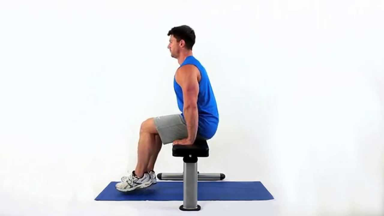 How to do a seated push up - YouTube