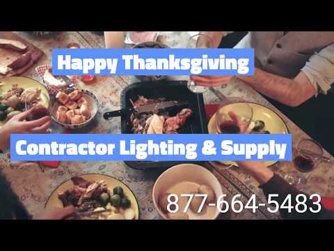 Happy Thanksgiving from Contractor Lighting & Supply - High Bays, Flat Panels, Strips, Wall Packs