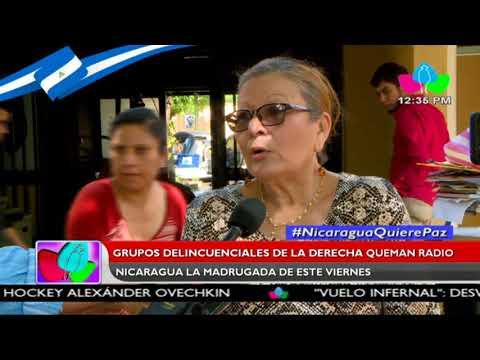 Grupos delincuenciales de la derecha queman Radio Nicaragua