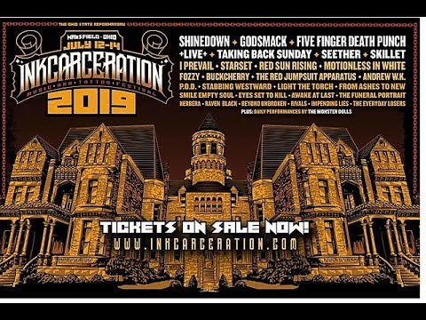 Inkcarceration Fest @ Shawshank Prison - SHINEDOWN, GODSMACK, FIVE FINGER DEATH PUNCH!