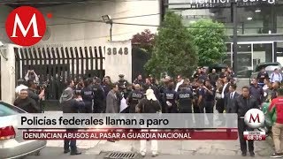 Policías federales llaman a paro nacional