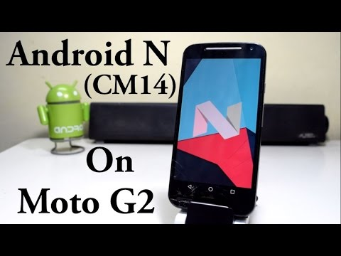 Install Android Nougat 7.0 (CM 14) on Moto G 2  !!