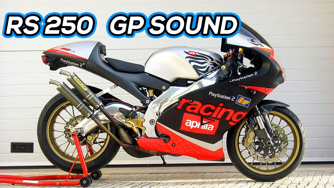 aprilia rs 250 gp exhausts fly by sound youtube. Black Bedroom Furniture Sets. Home Design Ideas