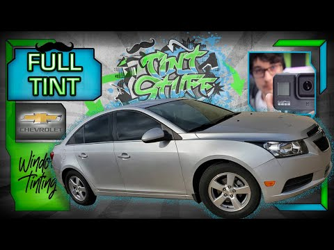 🔴 Full Cruze Window Tint | How To Tint Car Windows | IRL GoPro 8 Live Stream OBS